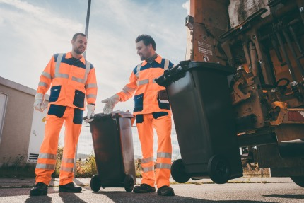 55 % of municipal waste is recycled or composted
