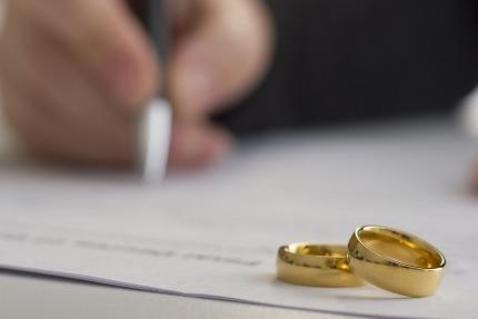 Het aantal echtscheidingen is gedaald in 2019